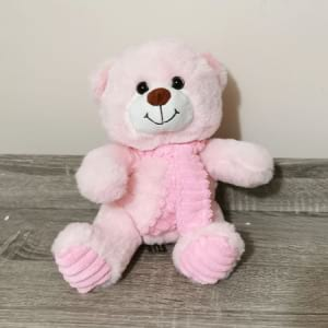 Teddy Pink with Scarf 24cm