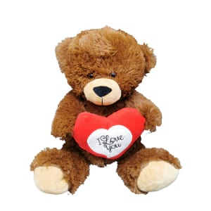 Teddy Brown With Heart 30cm