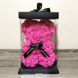 Rosie Bear Hot Pink 25cm