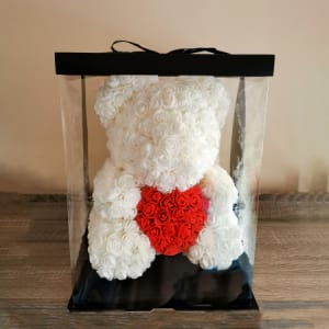 Rosie Bear With Heart 40cm
